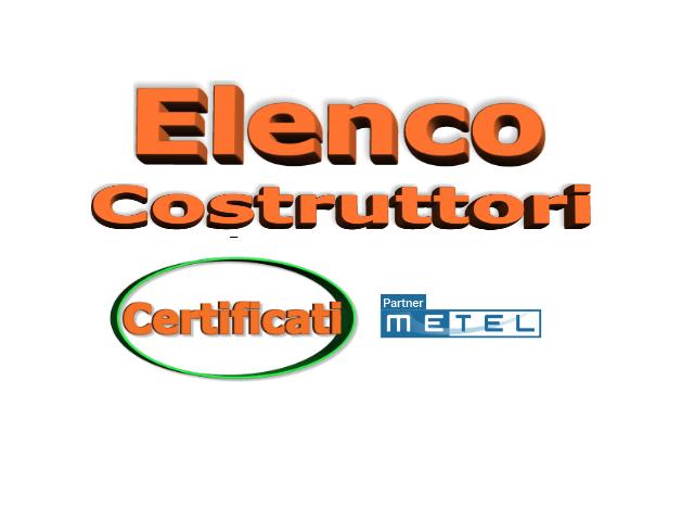 ELENCO COSTRUTTORI CERTIFICATI METEL